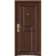 Puerta blindada de madera de acero (YF-G9040)