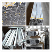 Verschiedene Metalllegierung 6005, 6061, 6063 Aluminiumlegierung Rohr für Struktur, Dekoration