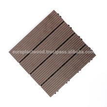 Tuiles de plancher WPC 300x300mm pas chères pour usage extérieur