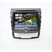 Vente chaude! Voiture stéréo DVD voiture gps navigation pour Ssangyong korando 2010 à 2013 voiture GPS navigateur Radio multimédia avec wifi