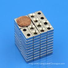NdFeB neodymium block double countersunk magnet
