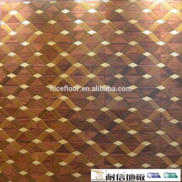 HDF piso laminado de madeira parquet