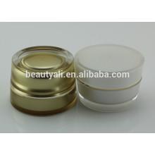 Plástico acrílico cremes cosméticos frascos por atacado 2ml 5ml 10ml 15ml 30ml 50ml 100ml