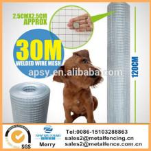 Clôtures galvanisées de jardin de barrière de grillage de volière de barrière de grillage de 20 / 30M