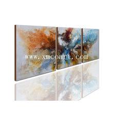 Handmade, modernos, grupo, abstratos, óleo, quadro