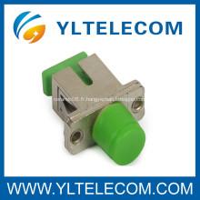 SC / transmission de données optiques de fibre hybride FC adaptateur avec céramique / manchon P.B