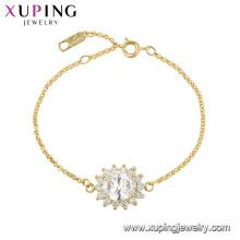 75619 bracelet en forme de fleur haut de gamme plaqué cristal xuping pour dame