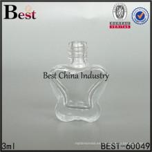 botella de cristal de la forma de la mariposa, envase vacío del gel del esmalte de uñas del arte