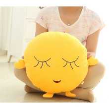 various design of yellow emoji pillow
