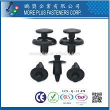 Fabriqué en Taiwan PP Nylon Easy Release Plastic Rivet Black