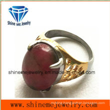 Red Fashion Stone Gold Plated Body Jewelry Casting Ring