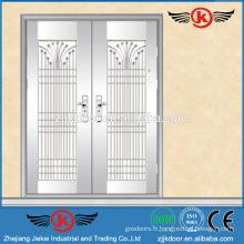 JK-SS9011 en acier inoxydable porte double porte en acier doublé porte extérieure