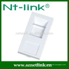 Support en blanc standard français pour 1 Keystone Jack 45 x 22,5 mm câble de réseau