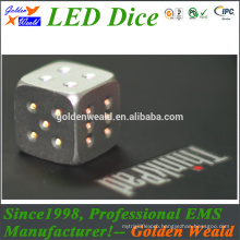 laser engraved 16mm mini wooden dice with round corner