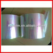 Película de PET iridiscente para hilados textiles