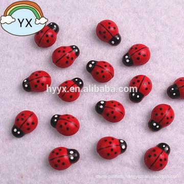 Mini wood ladybird sticker Wood ladybug Plastic ladybug Ladybird Ladybug Back with StickerChildren Kids Painted Adhesive Back DIY Craft Home Party Holiday Decoration