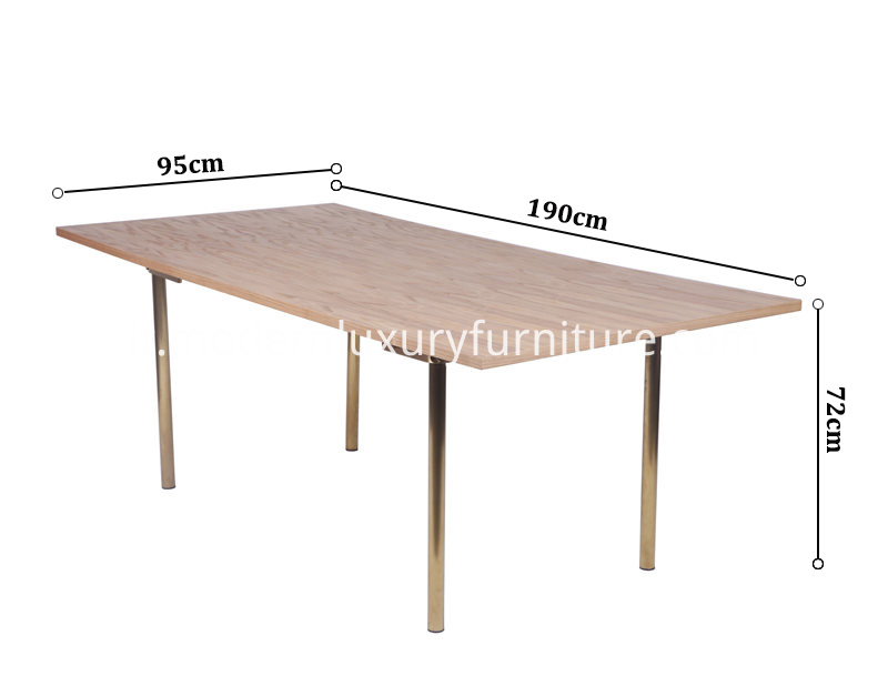 Size of Wegber Table