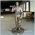 Western Life Size Casting Bronze Soldier Statue