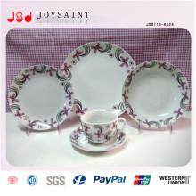 Kundenspezifische runde Form Stonewasre Dinner Sets mit hoher Qualität für Werbeartikel