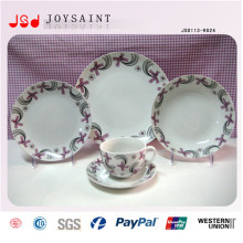 Customized Round Shape Stonewasre Dinner Sets with High Quality for Promotional