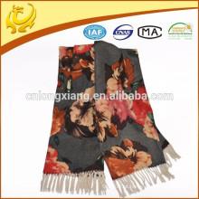 Lenços de lã personalizados personalizados de inverno duplo