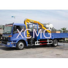 Knuckle Boom Truck Crane , Wire Rope Raise And Down 3200 kg
