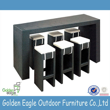 Modern design garden furniture dining table and chair