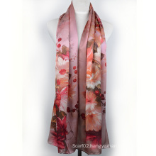 Digital Printed Silk Shawl (13-BR110303-5)