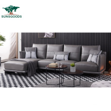 Made in China Modern Leisure Design White and Black Living Room Wood Sofa Furniture Set