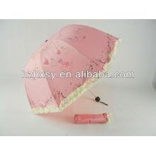 Parapluie de bulle rose pongé
