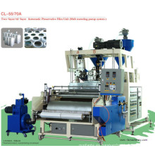 Película plástica de LLDPE doble tornillo máquina de la película de fundido