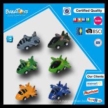 Hot item brinquedos de plástico miúdo puxar para trás avião de brinquedo