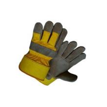Grey Cow Split Leather Full Palm Work Glove