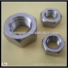 DIN934 tuerca hexagonal de acero inoxidable a4 70