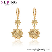 96996 xuping fashion gold plated flower no stone earrings for women
