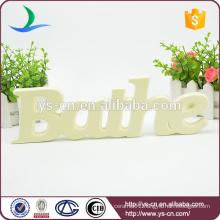 BATHE shape letters brand for bathroom indicator