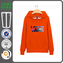 2016 Orange Fleece Homens baratos 100% Cotton Plain Hoodie