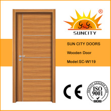 Used Wooden Luxury Main Door, Wood Door Design Sc-W119