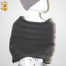 100% Wool New Fashion Colorful Kid Knit Shawl And Scarf Knitting Shwal For Child