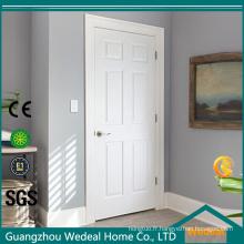 Porte intérieure percée moulée composite texturée à 6 panneaux