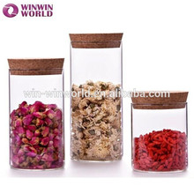 Hot-selling Heat Resisting hermético Candy Cheap Glass Jars