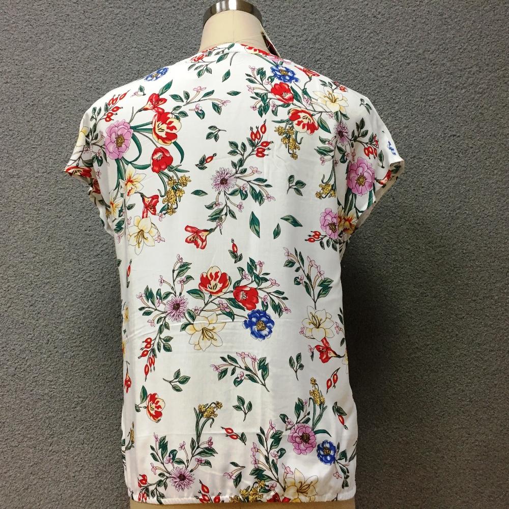 Women's viscose printed short sleeves blouse