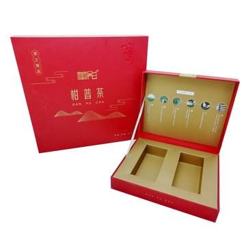 Paper book shape tea packaging box