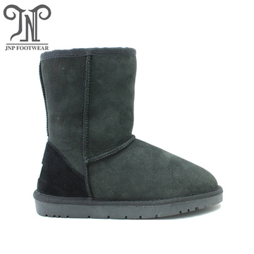 Women Waterproof Leather Sheepskin Fur Winter Snow Boot