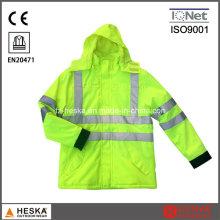 Hiver jaune manteau veste de travail réfléchissant