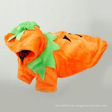 Produtos para animais de estimação do animal de estimação camisola de lã cão roupas de abóbora roupas de capuz cão