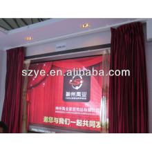Controle elétrico de alta classe, trilho de cortina motorizado, cortina flexível