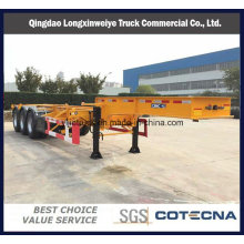 3 Axles Skeleton 40FT Flatbed Container Semi Trailer