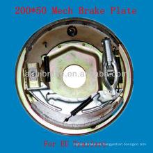 200 * 50 Mecánico de remolque de freno placa trasera Euro mercado