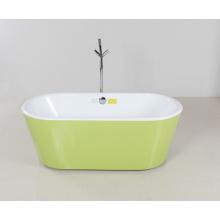 Grünes Hemd Ovale Freistehende Badewanne